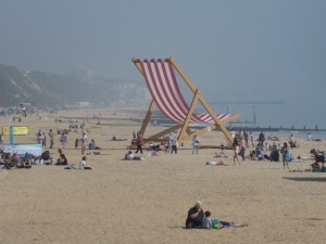 In March 2012 the world's largest deckchair was erected at Bournemouth beach to mark the start of British Spring Time