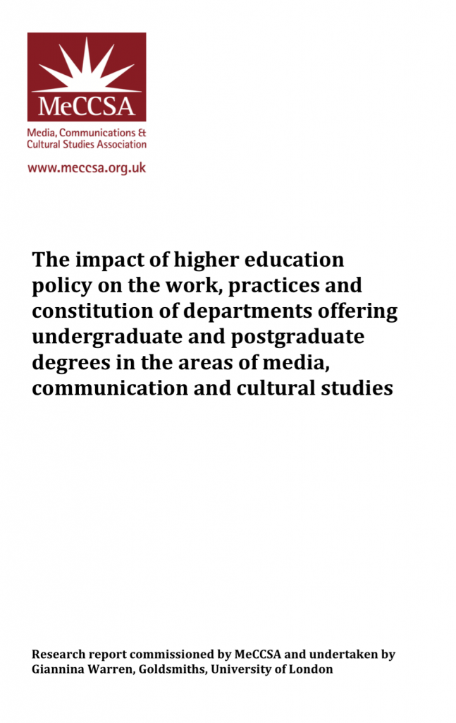 MeCCSA report on impact of HE policy