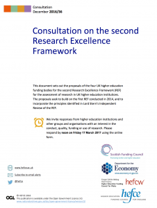 Consultation on the second REF