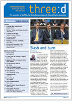 MeCCSA Three-D newsletter cover